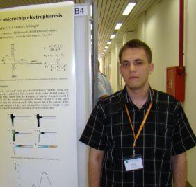 Koczka Péter (kémia BSc, vegyész MSc) Elektrokinetikus jelenségek vizsgálata PDMS csipben (2009-12)